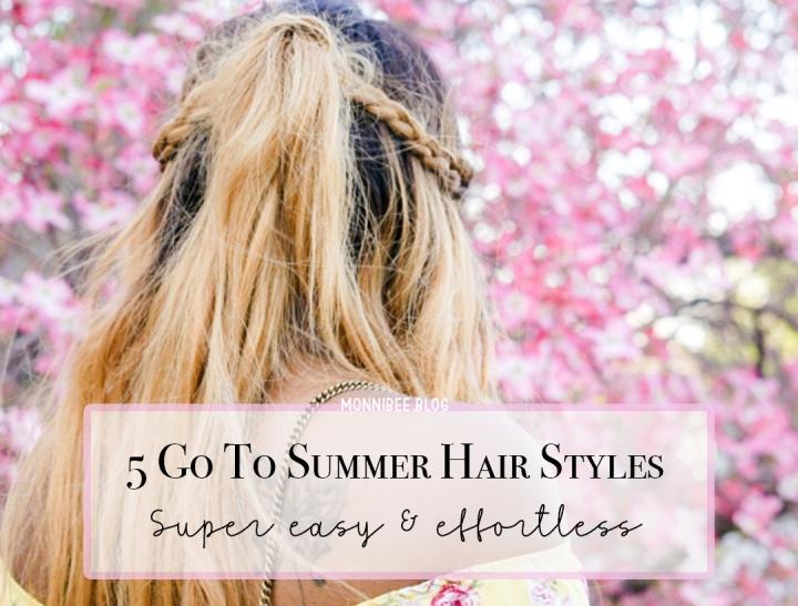 5 Easy, Wearable Hair Styles For Summer2021