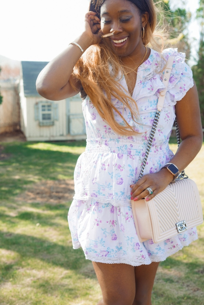 Light pink Chanel Boy bag